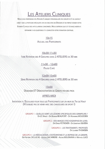 Programme Atelier Clinique 26 Septembre 2015