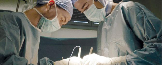 Opération de chirurgie orthopédique